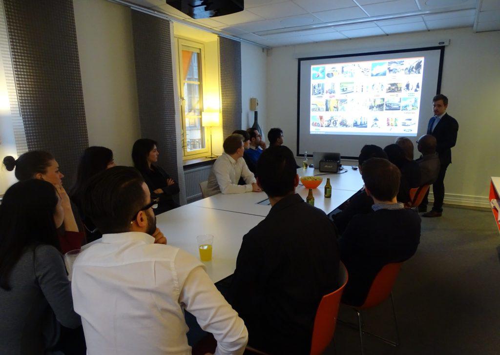 Personlig kontakt - Navetti bjuder in talanger till sitt kontor för att visa vilka de är och låta de träffa medarbetarna under en afterwork på kontoret efter presentationen.